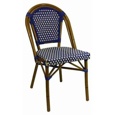 Parisian Cafe Outdoor Chair French Replica Restaurant Dining Seats PARIS Blue