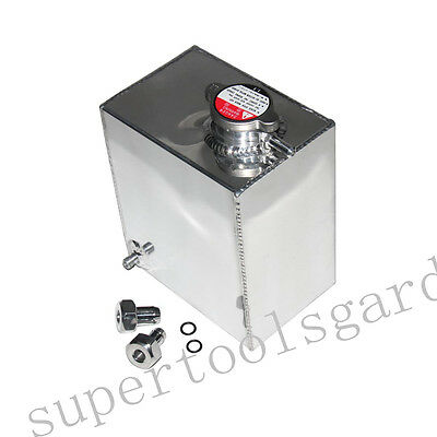 Universal 2.5L Aluminum Radiator Overflow Reservoir Water Tank Bottle New