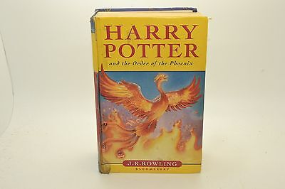 Harry Potter And The Order Of The Phoenix J.k. Rowling Hard Cover Book