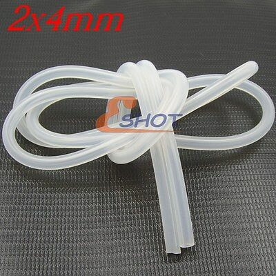 1 Meter 2mm x 4mm New Silicone Fuel Line Tube Pipe for RC Nitro Plane Car Buggy