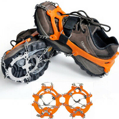 For Climbing Walking Hiking Non-slip Spikes Ice Snow Crampons Shoes Chain Cleat#