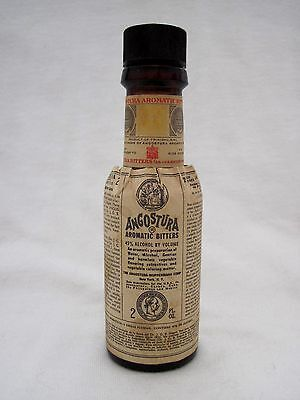 1936-1952 Angostura Aromatic Bitters 2 Oz. Brown Bottle W/Excellent Paper Labels
