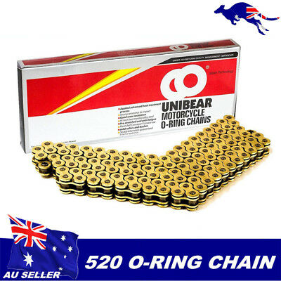 Gold 520 120L CHAIN 120 LINKS O-RING MOTORCYCLE PitPro Dirt Bike offroad
