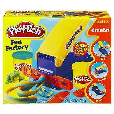 NEW Play-Doh Fun Factory Squeeze & Mold Modeling Shapes Toy Safe Hasbro 90020