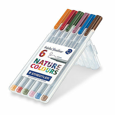 STAEDTLER Triplus Fineliner Tuscan Red .03 mm Box of 10 Made in Germany 334-260