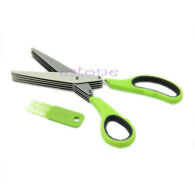 Stainless Steel  Quality 5 Blade Security Herb or Craft Shredding Scissors