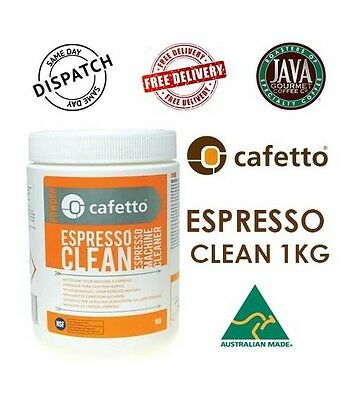 Cafetto 1kg Espresso Machine Cleaner Cafe Coffees Bakery Back Flush Hospitality