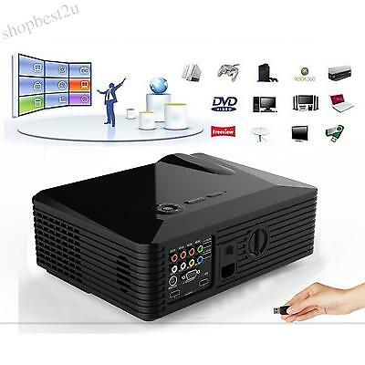 5000 Lumen Android4.4 WIFI HD 1080P 3D LED Projector HDMI TV Home Theater Beamer