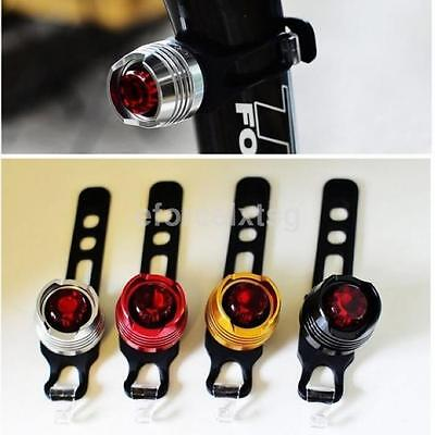 1X Cycling Bike Bicycle White/Red Light LED Front Rear Safety Warning Lamp US