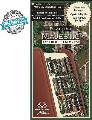 Majestic Bible Tabs Indexing Camo Foil-Edged Old And New Testament Church Learn