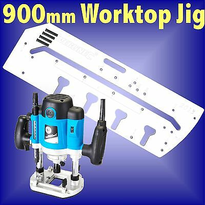 900mm Kitchen Worktop Jig and 1500w Plunge Router template bedroom