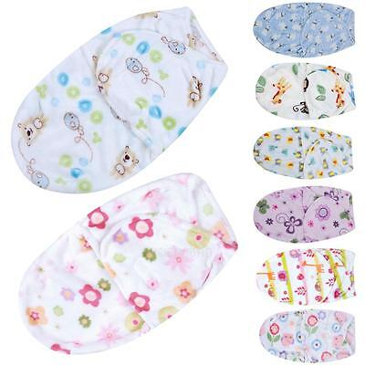 Cute Cartoon newborn Baby Infant Swaddle Wrap Swaddling Blanket Sleeping Bag New