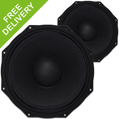 2x Citronic 12 Inch Subwoofer Bass Drivers 1800W Essex