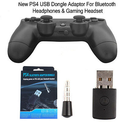 Wireless PS4 USB Bluetooth Dongle Adapter - Microphone Kopfhörer Headset Gaming