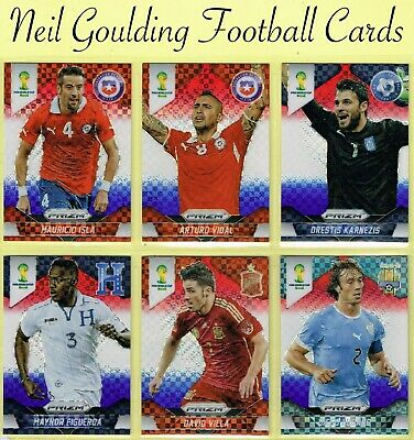 World Cup PRIZM 2014 ☆ RED, WHITE & BLUE PARALLEL ☆ Football Cards