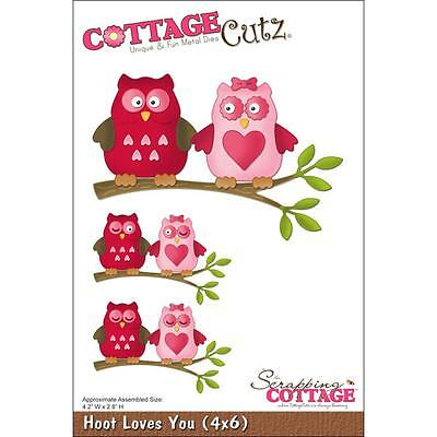 Hoot Loves You (4x6) Die Cottage Cutz