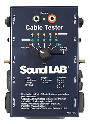 Soundlab CT02 Cable Tester with LED Indicators