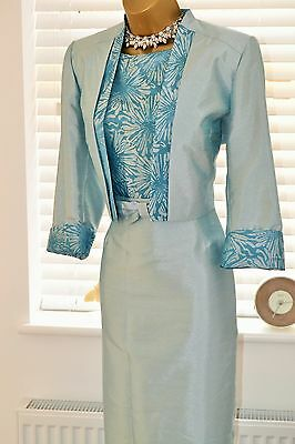 Simply Stunning Roman Dress & Jacket Plus Necklace Size 14 Mother of the Bride