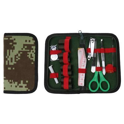 Military Outdoor Travel Thread Needle Tape Measure Scissor Bag Sewing Kit