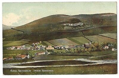 KIRK YETHOLM from Venchen, Old Postcard by GW Gibson, Unused