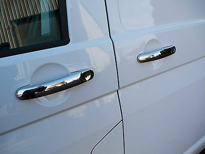 Stainless Steel Chrome 4 Door Handle Covers Trim Set for VW Caravelle (03-15)