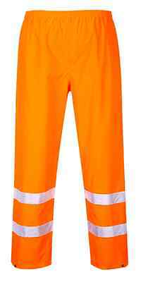 Class E:2 Hi-Vis Traffic Pants Sizes M-6Xl S480 Back Elastic Waistband Snap Hems