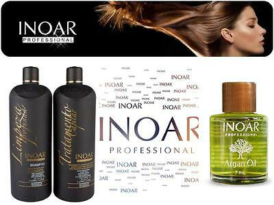 Inoar Brazilian Keratin Moroccan Treatment Blow Dry Hair Straightening System