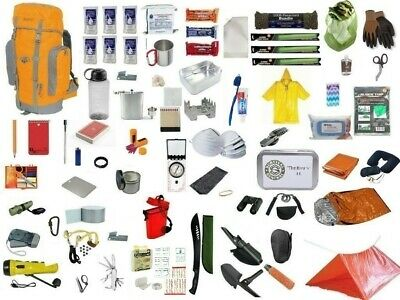 3 Day Emergency Survival Kit Bug Out Bag Zombie Disaster Hurricane Backpack 72hr