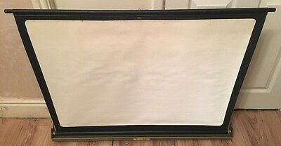 "Vintage Johnsons ""Luxor Duo"" Folding Table Top Projector Screen, Very Compact"