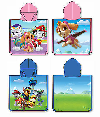 Paw Patrol Hooded Poncho Towel For Boys & Girls - Choose Skye or Rocky Design