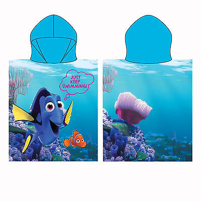 Finding Dory & Nemo Disney Hooded Poncho Towel Just Keep Swimming Design 50x55cm