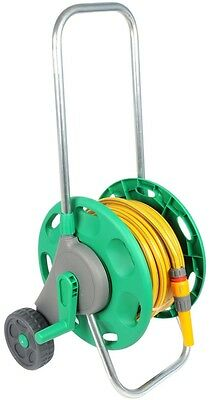 Hose Reel Cart with Wheels Heavy Duty Portable Holder Trolley & Garden Watering