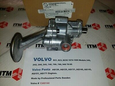 Volvo B21 - B23 & B230 New Engine Oil Pump 79-95 -240's - 740 - 760 - 780 - 940