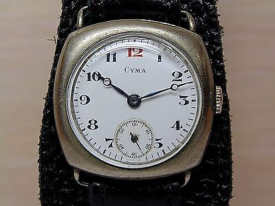 CYMA Red 12 Military WATCH Swiss Men's Watch