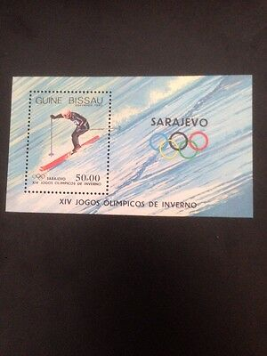 GUINEA-BISSAU 1983 WINTER OLYMPIC GAMES (1st Issue) U/M M/S