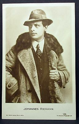 Johannes Riemann-   Actor Movie Photo - Film Autogramm-Karte AK (Lot-Z-809)