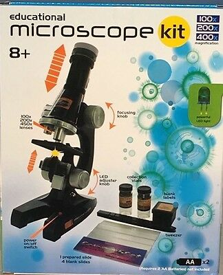 Educational 10 Piece Microscope Kit Science Math Kids Toy Set Gift NEW