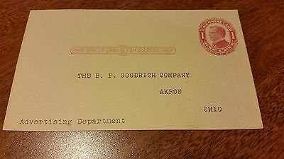 1916 Postcard B F GOODRICH CO Akron OH advertising GOODRICH BAREFOOT RUBBER