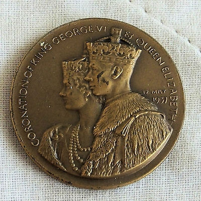 1937 CORONATION OF KING GEORGE VI & QUEEN ELIZABETH 35mm MEDAL