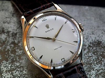 Stunning Oversize 1956 Solid 9ct Gold Rolex Precision Gents Vintage Watch