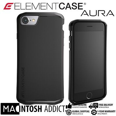 Element Case AURA Protective Case For iPhone 7 BLACK | MIL-SPEC |Satin Finish