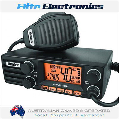 Uniden Pro5050 40 Channel 4W 27Mhz Am Cb Compact Radio For Truck 4Wd Caravans