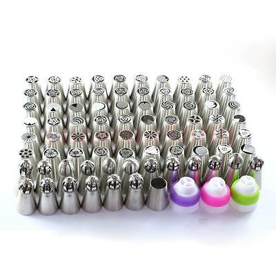 79Pcs Russian Tulip Icing Piping Nozzles Cake Decor Tips Baking Tools Excellent