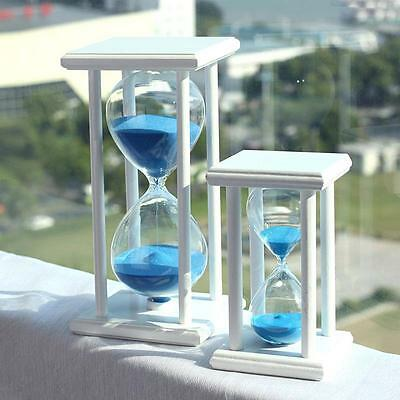 30/60Minutes Wood Sand Glass Hourglass Timer Clock Home Office Decor Gift Magic