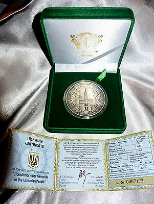 Ukraine 20 UAH The Famine Genocide of the Ukrainian People HOLODOMOR 2007 Silver