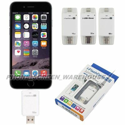 16/32/64GB iPhone USB iFlash Drive Disk 8pin OTG Memory Stick For iPad Android