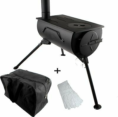 Frontier Stove Portable Wood Burning Cooker Heater Camping Fireplace Carry Bag