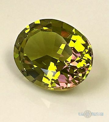 Diaspore #MNZ 1536. Oval 10x8mm. 2.75 Ct. Created Gemstone Monosital. US@GEMS