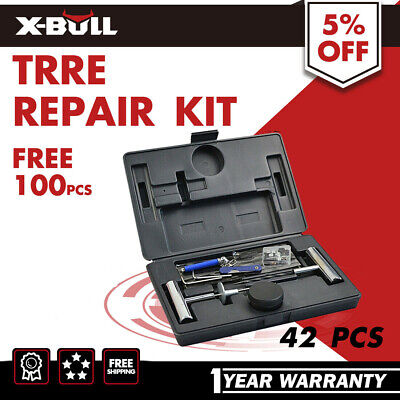 X-BULL 42PCS Tyre Puncture Repair Kit Recovery Tool Heavy Duty 4WD Plugs Tube