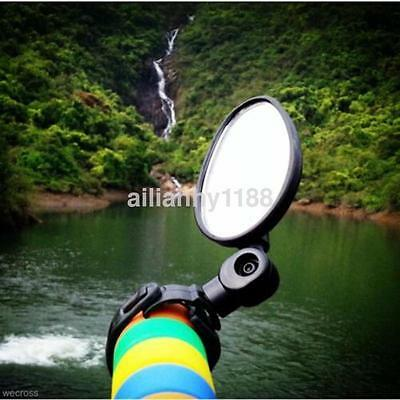 High Quality Universal Bicycle Bike Convex Side Rear View Mirror Handlebar Uk